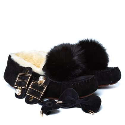 Мокасины Dakota Pom Pom New Black - фото 3