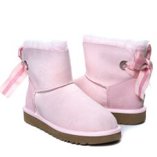Угги Bailey Bow Mini Customizable Pink