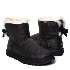 Угги Bailey Bow Mini Sparkle Boot Black