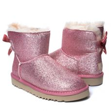 Угги Bailey Bow Mini Sparkle Boot Pink