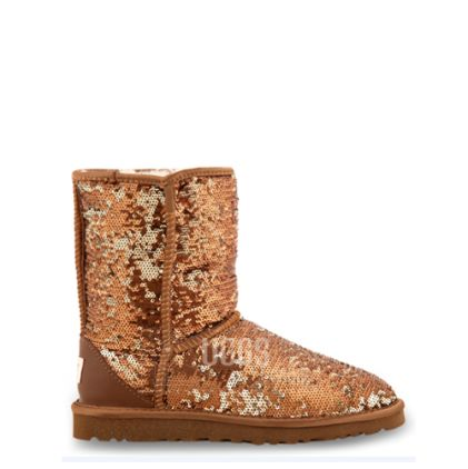 Угги Classic Short Sparkles Brown - фото 3