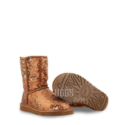 Угги Classic Short Sparkles Brown - фото 2