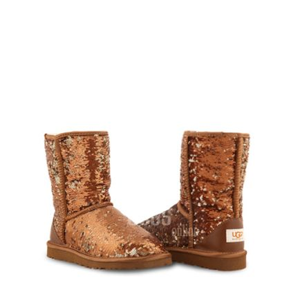 Угги Classic Short Sparkles Brown - фото