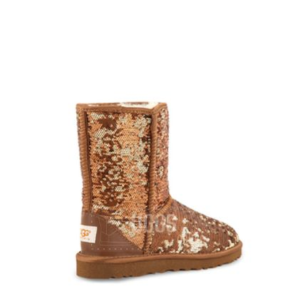 Угги Classic Short Sparkles Brown - фото 4