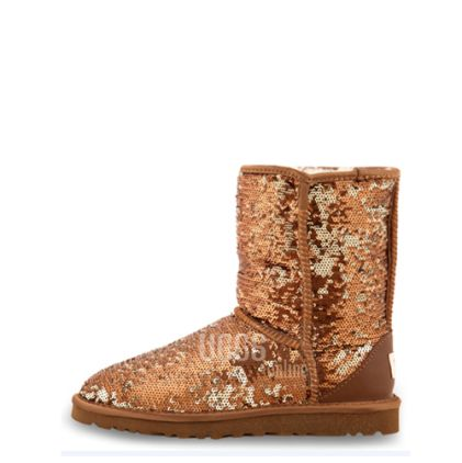 Угги Classic Short Sparkles Brown - фото 5