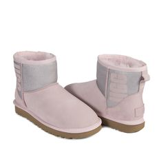 Угги Classic Mini Rubber Boot Seashell Pink