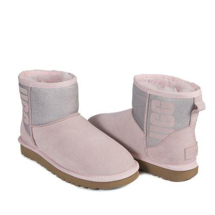 Угги Classic Mini Rubber Boot Seashell Pink - фото