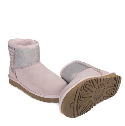 Угги Classic Mini Rubber Boot Seashell Pink - фото 2