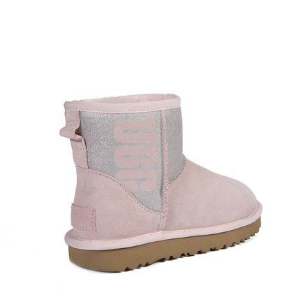 Угги Classic Mini Rubber Boot Seashell Pink - фото 4