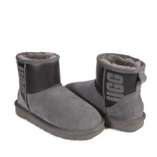 Угги Classic Mini Rubber Boot Grey/Black