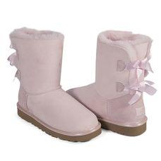 Угги Bailey Bow Metallic Seashe Pink II