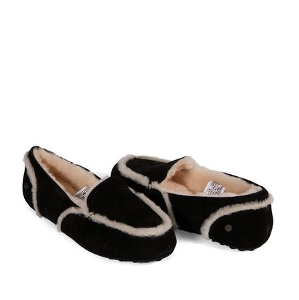 Мокасины Loafer Slippers Hailey Black - фото