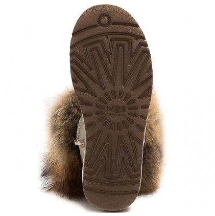 Угги Fox Fur Metallic Sand - фото 5