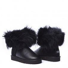 Угги Fox Fur Metallic Ultra Black