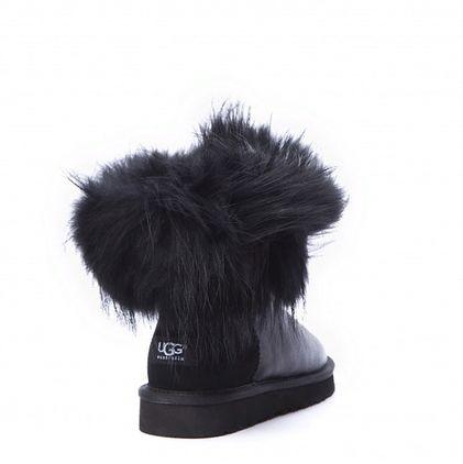 Угги Fox Fur Metallic Ultra Black - фото 5