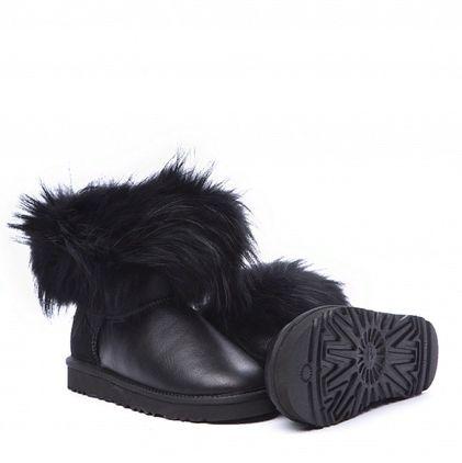 Угги Fox Fur Metallic Ultra Black - фото 7