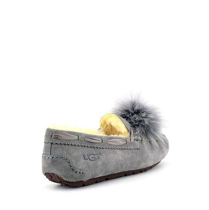 Мокасины Dakota Pom-Pom Grey - фото 4