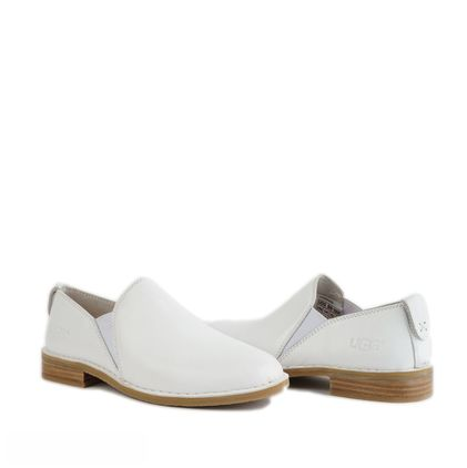 Лоферы Loafers White Leather - фото
